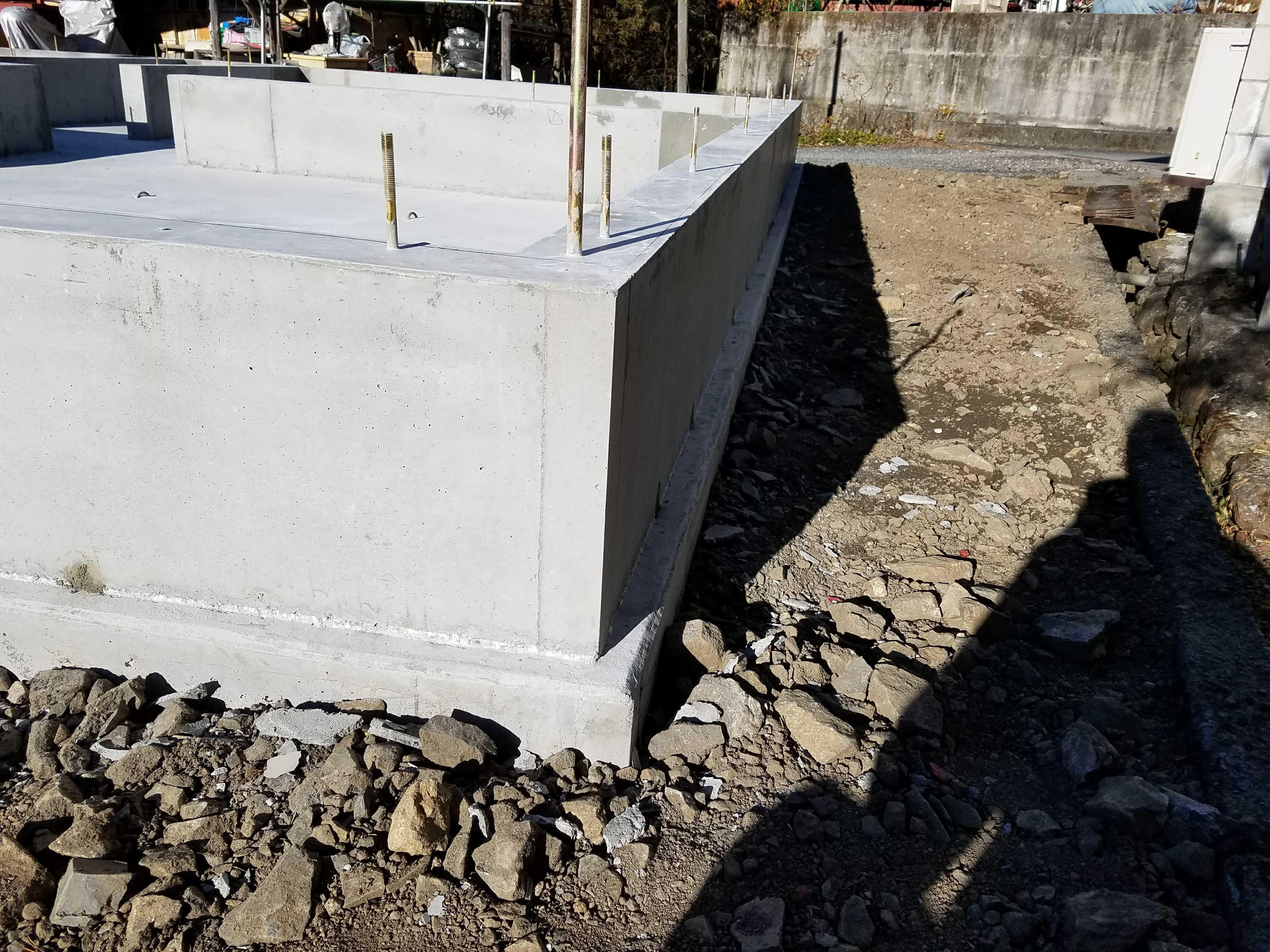横瀬町T様邸 基礎工事完了